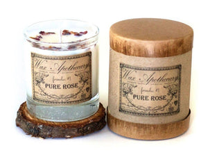 Pure Rose Botanical Candle in 7 oz. Scotch Glass - Roseland y Mar