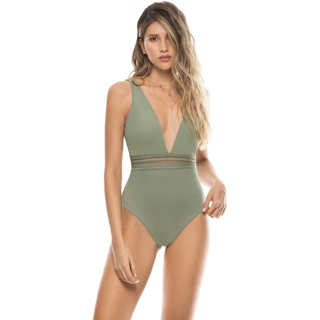 Olive Green Swimsuit - Roseland y Mar
