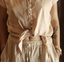 Load image into Gallery viewer, LANA Handwoven Cotton Knot Shirt, in Rose - Roseland y Mar
