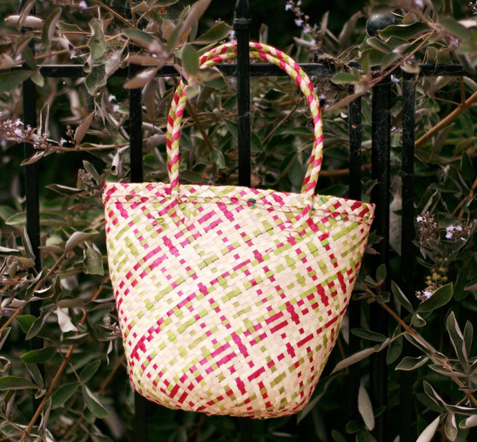 Coco Palm Straw Bag-Pink Lemonade - Roseland y Mar