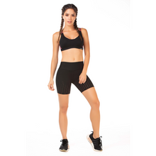 Load image into Gallery viewer, High Waist Black Bike Shorts - Roseland y Mar