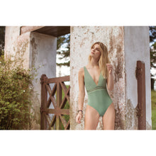 Load image into Gallery viewer, Olive Green Swimsuit - Roseland y Mar