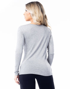 Long Sleeve Shirt Customize Grey