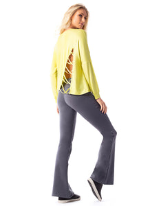 Long Sleeve Shirt Plant Yellow