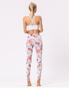 "Atmungsaktive Yoga High Waist Leggings im ""Summer Love"" Design krasse-leggings-de.myshopify.com"