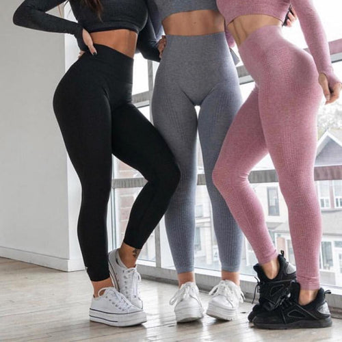 Nahtlose High Waist Trainings Leggings verfügbar in 10 Farben krasse-leggings-de.myshopify.com