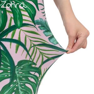 "Zohra Elastische One-Size High Waist Leggings im ""Urwald"" Design krasse-leggings-de.myshopify.com"