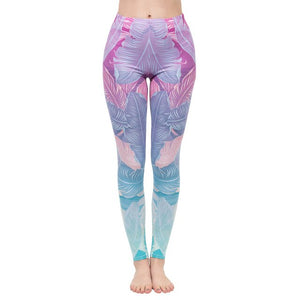 "Zohra Elastische One-Size High Waist Leggings im ""Miami 1983"" Design krasse-leggings-de.myshopify.com"