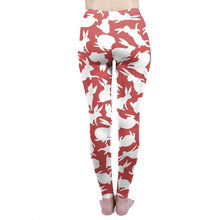"Laden Sie das Bild in den Galerie-Viewer, Zohra Elastische One-Size High Waist Leggings im ""Jefferson Airplane Wunderland"" Design krasse-leggings-de.myshopify.com"
