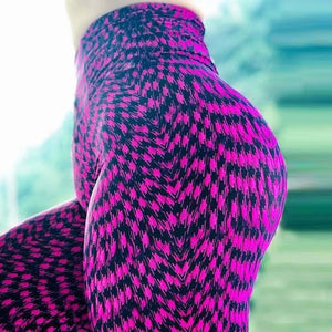 "FLYBAZZZ Nahtlose High Waist Leggings im ""Purple Fur"" Design krasse-leggings-de.myshopify.com"