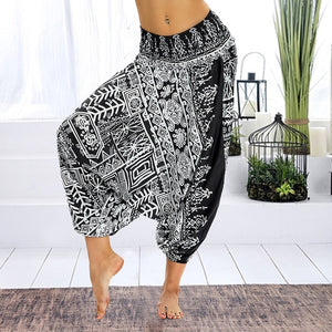 "*Yoga~Teacher* Heaven Serie Mid Waist Harem Yoga Pants im ""Kulning"" Design"