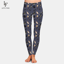 "Laden Sie das Bild in den Galerie-Viewer, LetsFind High Waist Herbst Leggings im ""Halloween Salems Wicca"" Design."