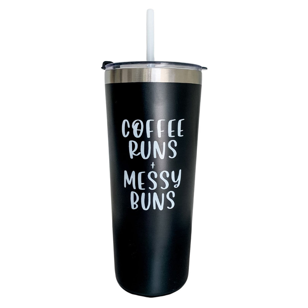 Coffee Runs + Messy Buns | Travel Tumbler