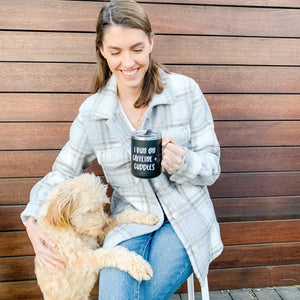 Caffeine + Cuddles | Travel Coffee Mug - Shop Donuts and Daisies