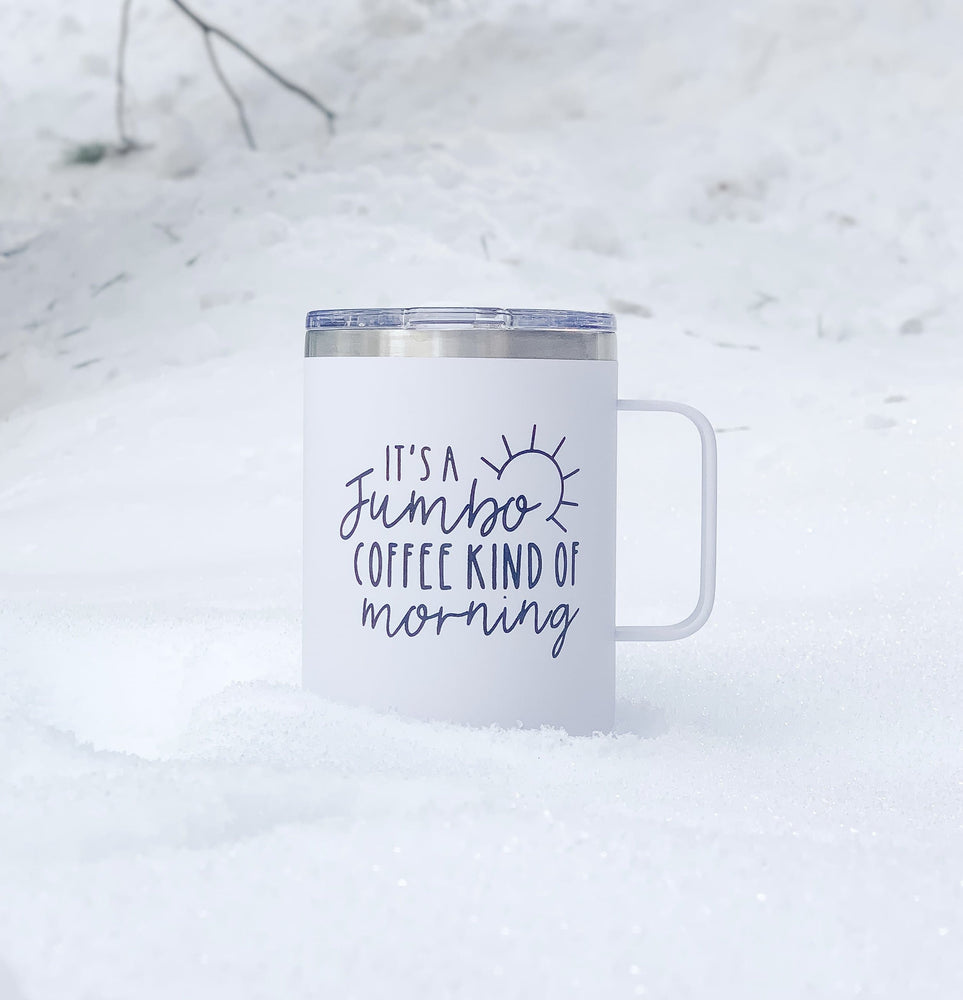 Load image into Gallery viewer, Jumbo Coffee Kind of Morning | Travel Coffee Mug - Shop Donuts and Daisies