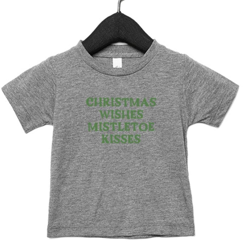 Christmas Wishes Mistletoe Kisses Infant T-Shirt - Shop Donuts and Daisies