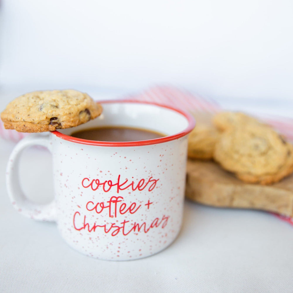 Cookies, Coffee, + Christmas | Ceramic Coffee Mug - Shop Donuts and Daisies