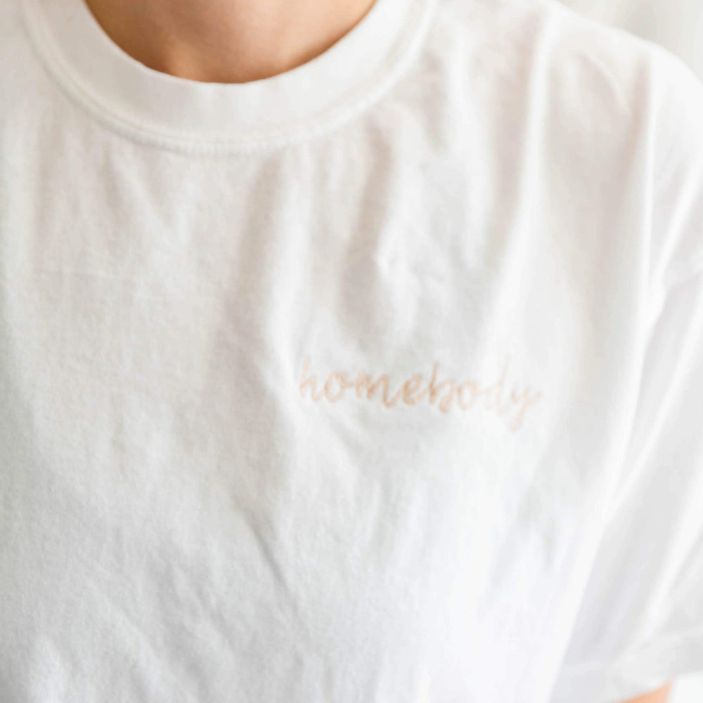 Homebody Embroidered T-shirt - Shop Donuts and Daisies
