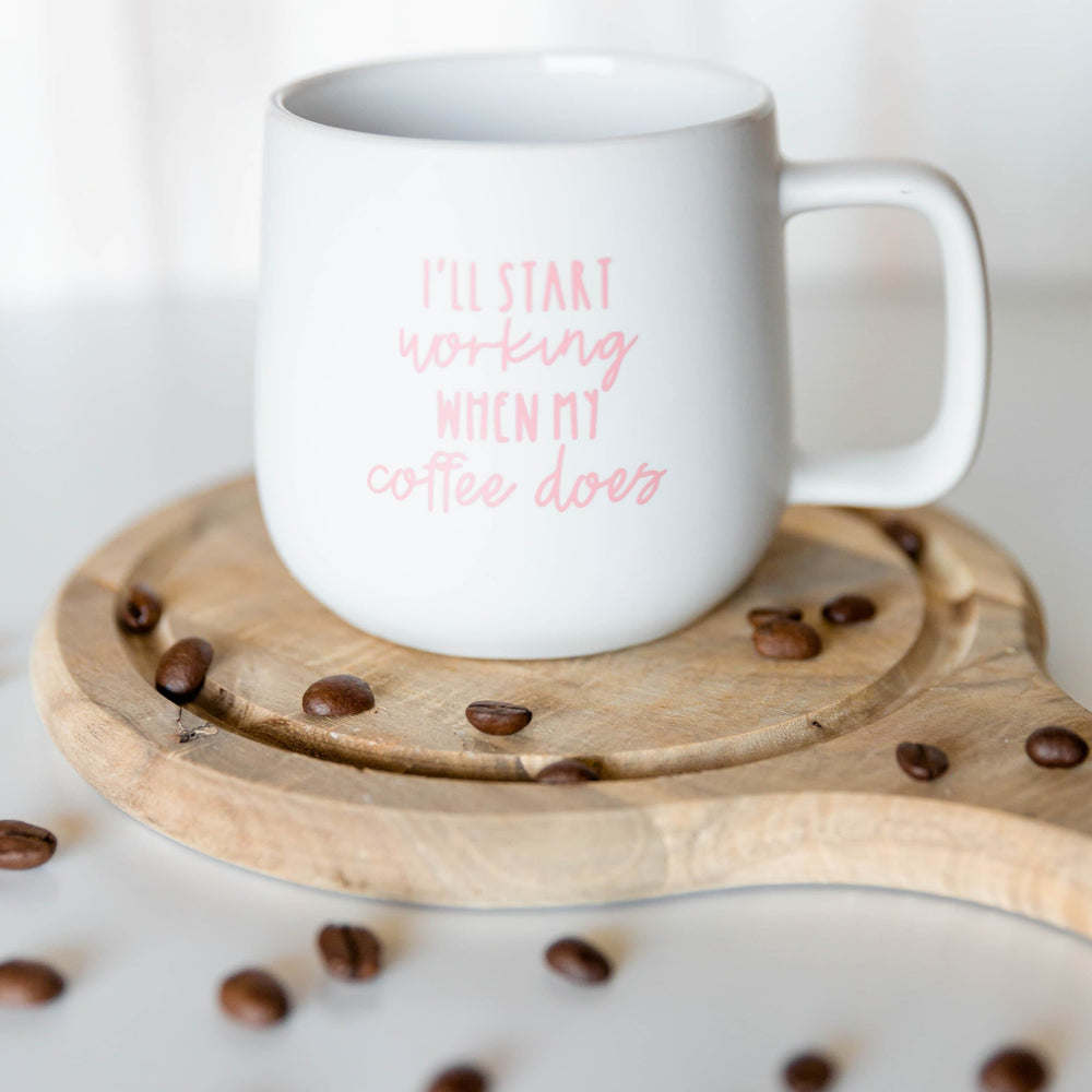 Load image into Gallery viewer, I'll Start Working When Coffee Does | Ceramic Coffee Mug - Shop Donuts and Daisies