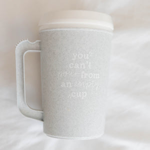 You Can't Pour From Empty Cup | Insulated Thermos - Shop Donuts and Daisies