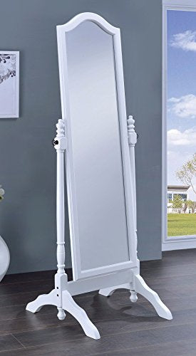 Elegant Mirror With Arched Top, White