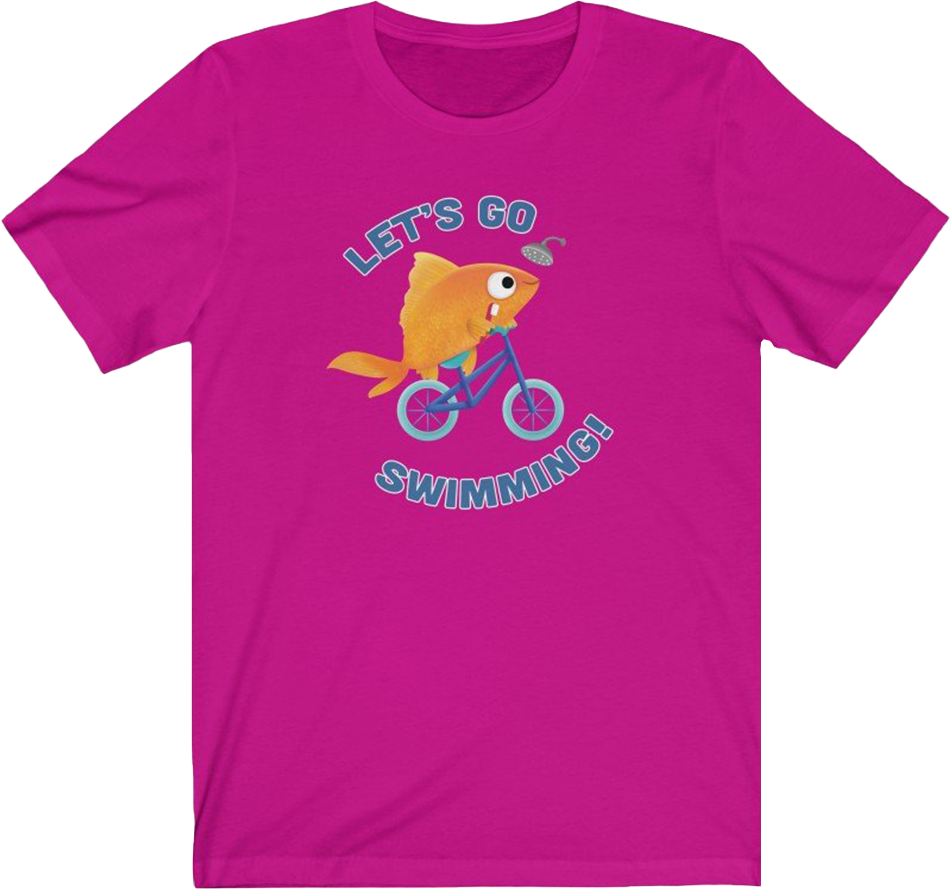 Let's Go Swimming Adult T-Shirt