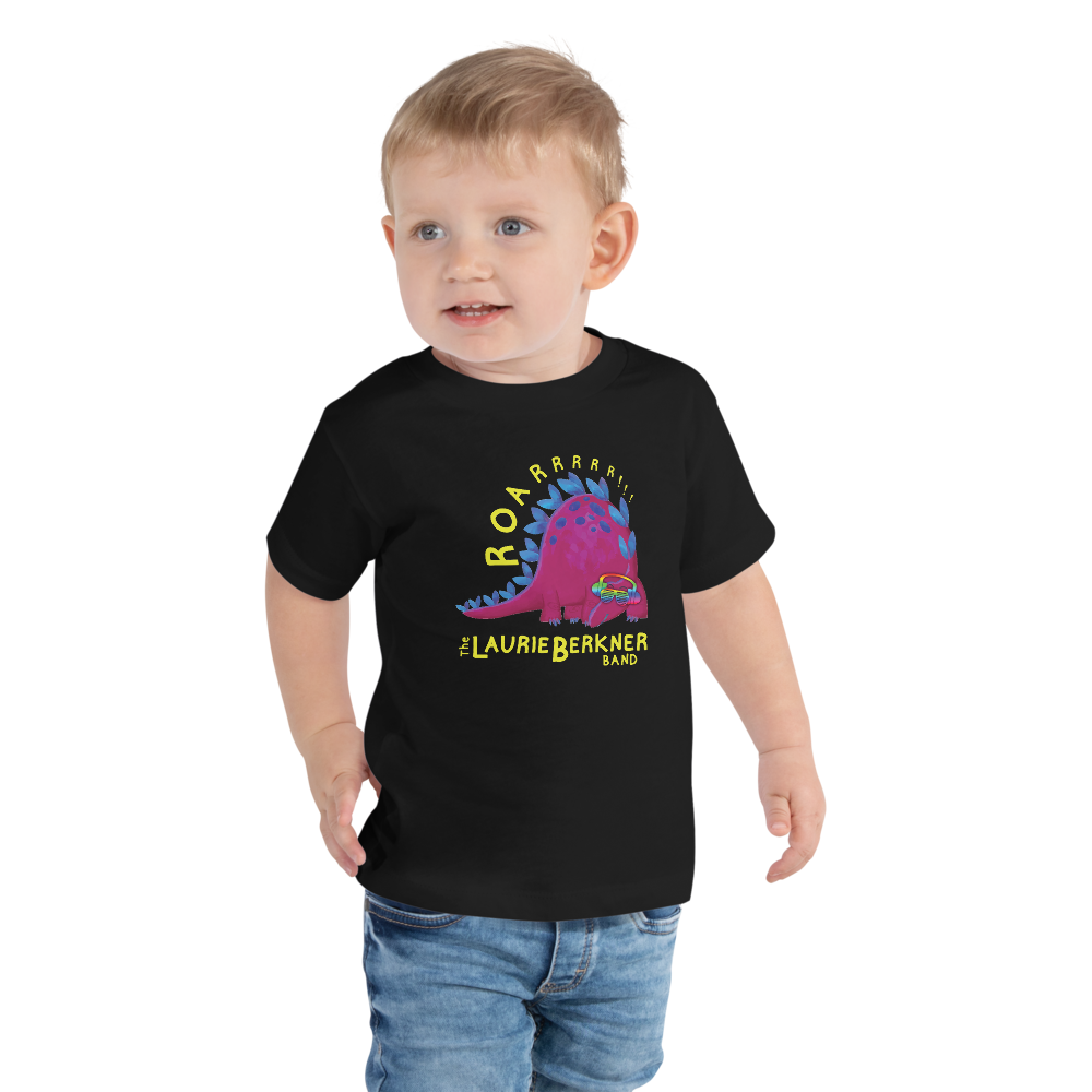 Dino Roar Toddler T-Shirt (Black)