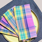 Palisades Plaid 4-Piece Napkin Set