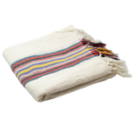 Folded in half, the towel measures 1-2 inches. Thin for storage yet incredibly absorbent and quick drying. A sustainable and chic addition to any bathroom--weather you're looking for a pop of color or to complement your neutral escape.