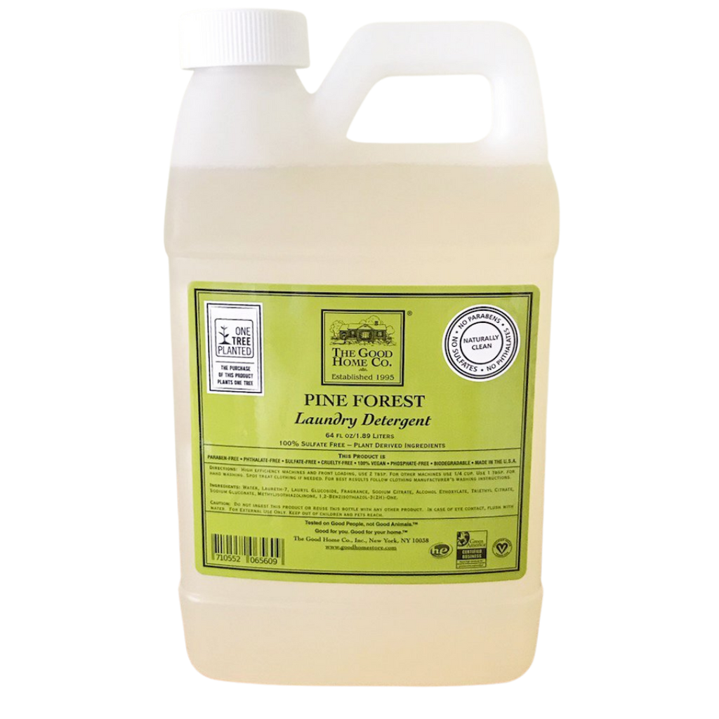 A large plastic gallon refill of laundry detergent, now in a new Frasier fir scent for a limited time.