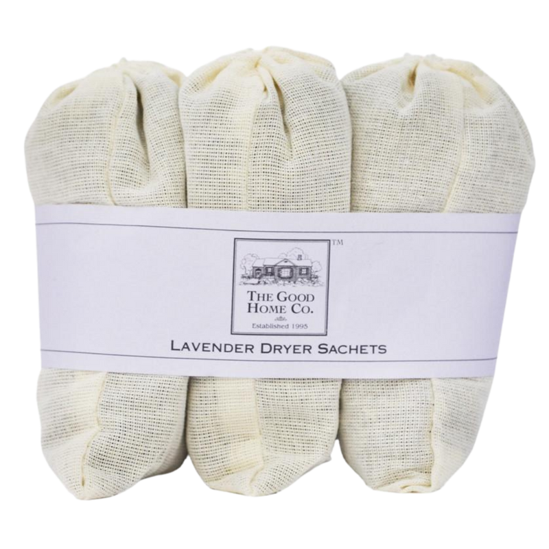 Love the smell of clean laundry? This bundle of three lavender dryer sachets is filled with 100% lavender and is the perfect way to scent your laundry without single use laundry sheets filled with synthetic fragrance.