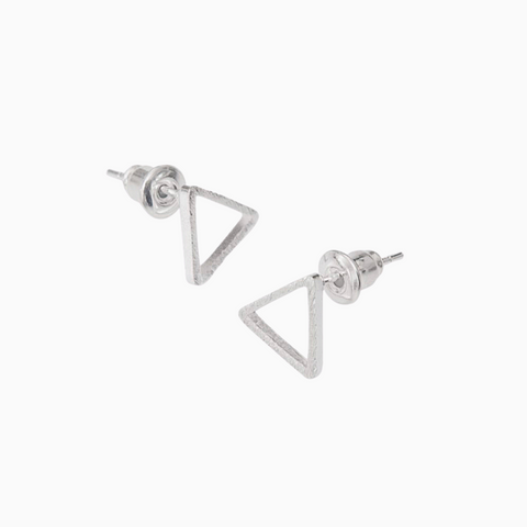 Triangle Studs in Silver