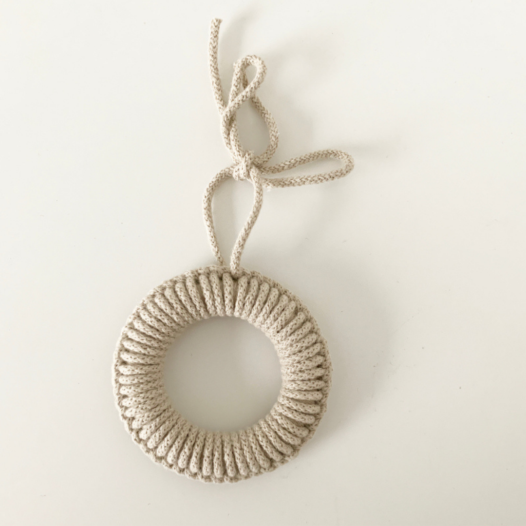 Rope Tree Decoration in Linen