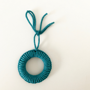 Rope Tree Decoration in Teal