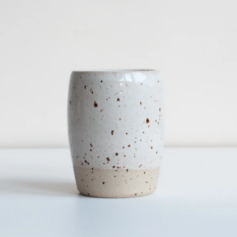 Ceramic Coffee Cup in White Speckle