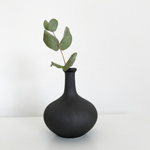 Athen Mini Vase in Dark Brown/Black