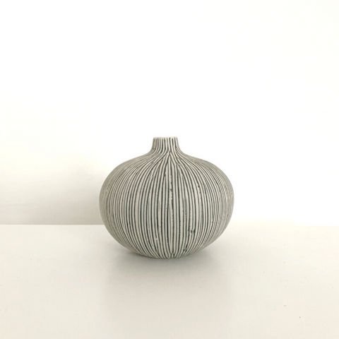 Small Bari Vase in Grey