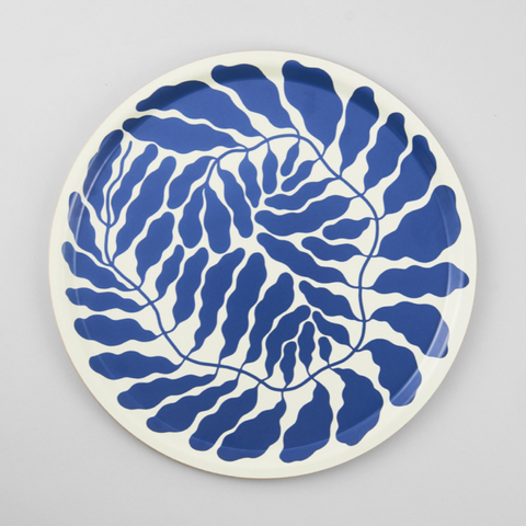 Blue Leaves Tray