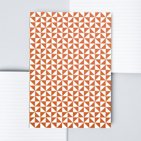 Kaffe Print Layflat Notebook in Brick Red