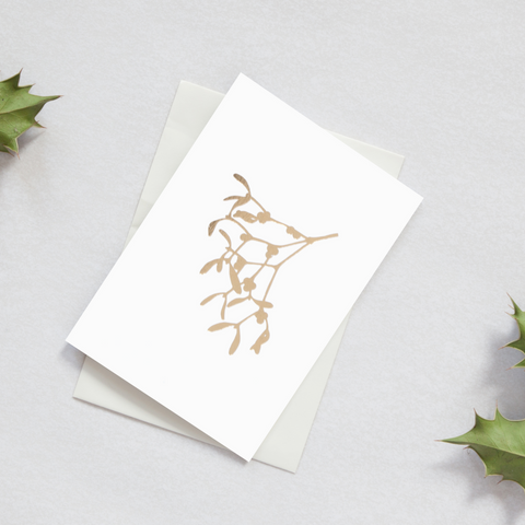 Foil Blocked Mistletoe Card