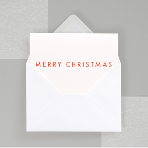 Neon Merry Christmas Card