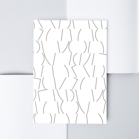 Sol Print Layflat Notebook in White