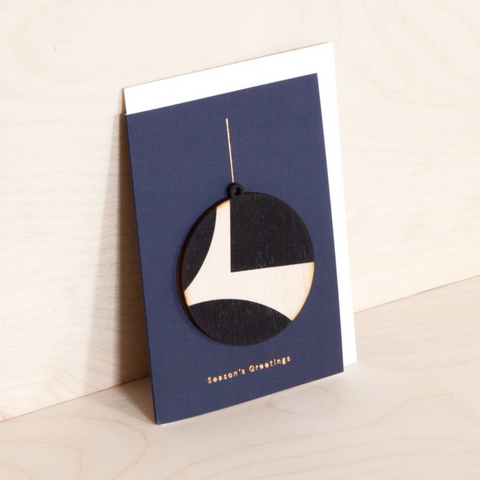 Wooden Ornament Card - Circle