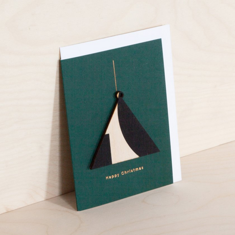 Wooden Ornament Card - Triangle