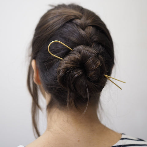 The Lizzy Minimal Brass Hair Pin