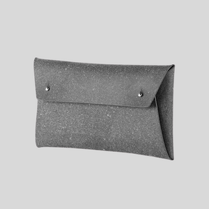 Leather Pouch in Stone