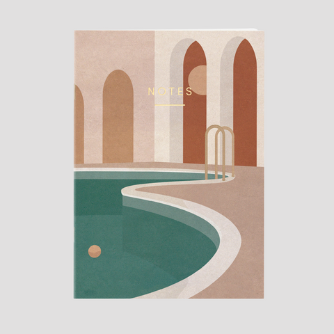 Pool with Arches Notebook