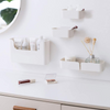 Set of 4 Bedside Shelf Organizer | Wall Mounted Floating White Shelves