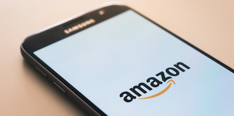 Amazon logo on a mobile phone screen