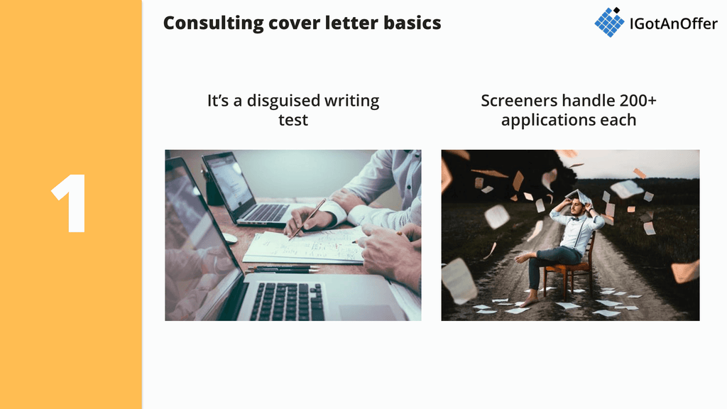 part 1 consulting cover letter basics